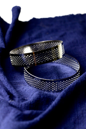 Perforated Round Tart Rings (8cm)