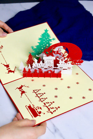 Jolly, Jolly, Christmas! Christmas 3D Pop-Up Card