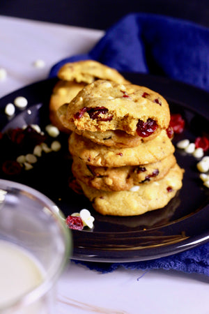 Merry Berry | Cranberry & White Chocolate Chip Cookies (~24 cookies)