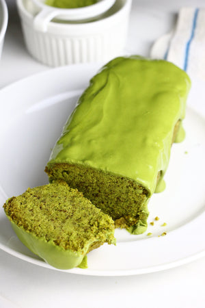 Matcha Melody | Matcha Loaf Cakes w/ Matcha White Chocolate Glaze (makes 2x loaves)