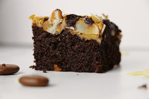 The Brew Brownie | Tiramisu Cheesecake Brownies w/ Almond Flakes (~16 slices)