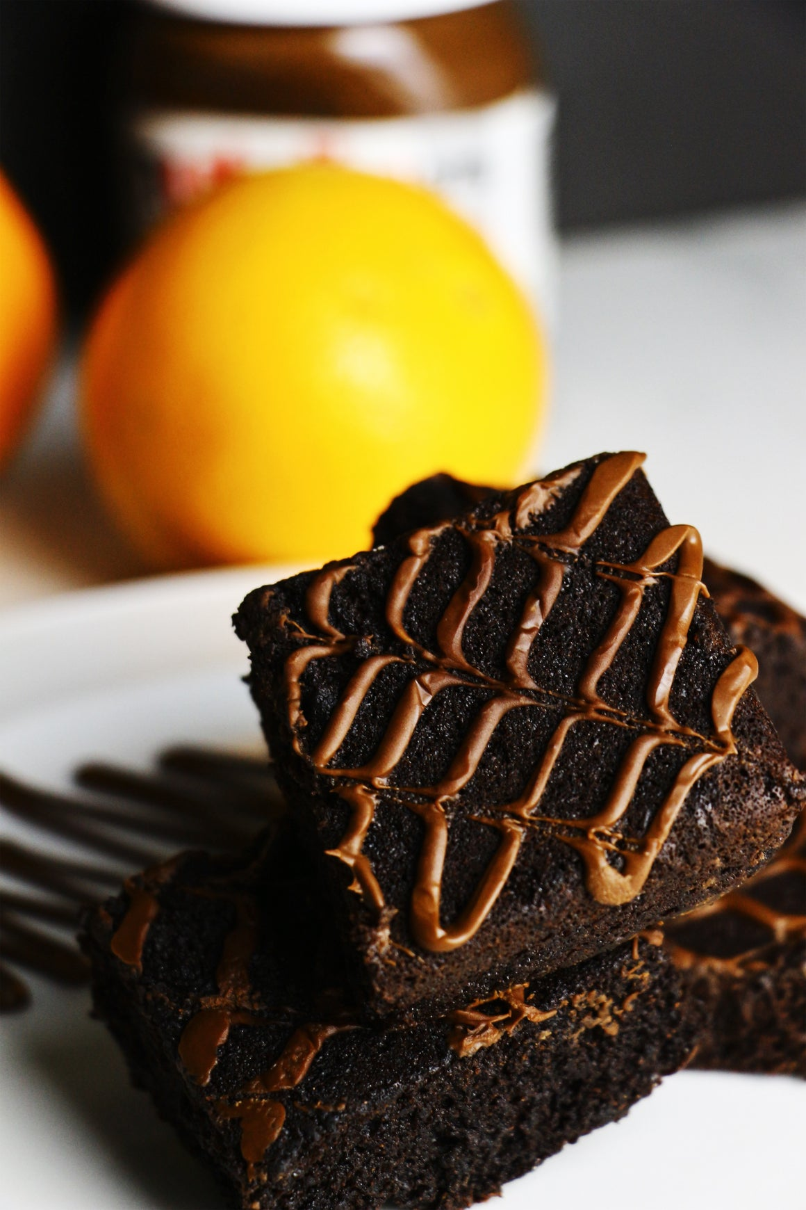 Zesty Zach | Orange Nutella Brownies (~16 slices)