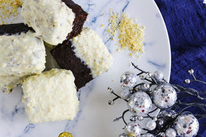 Raffaello Brownies | White Chocolate & Coconut Brownies (~16 slices)