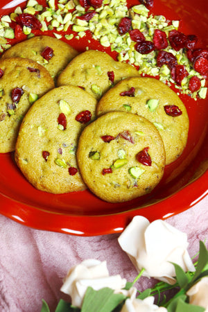 Nutty Berry | Pistachio & Cranberry Cookies (~24 cookies)