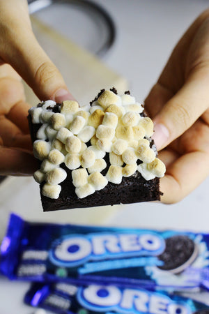 S'moreos | Oreo Marshmallow Brownies (~16 slices)