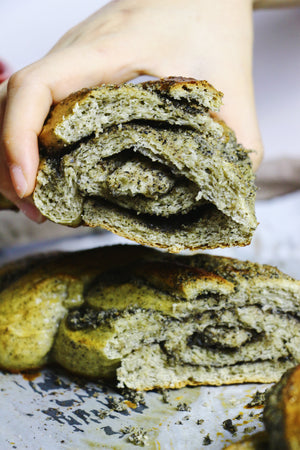 Back To Black | Black Sesame Bread Braids