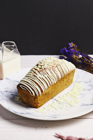 Thai Tea Thrills | Thai Tea White Chocolate Drizzle Loaf Cakes (makes 2x loaves)