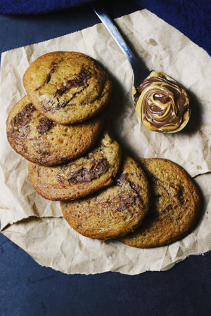The PB & N Cookie | Nutella Peanut Butter Swirled Cookies (~24 cookies)