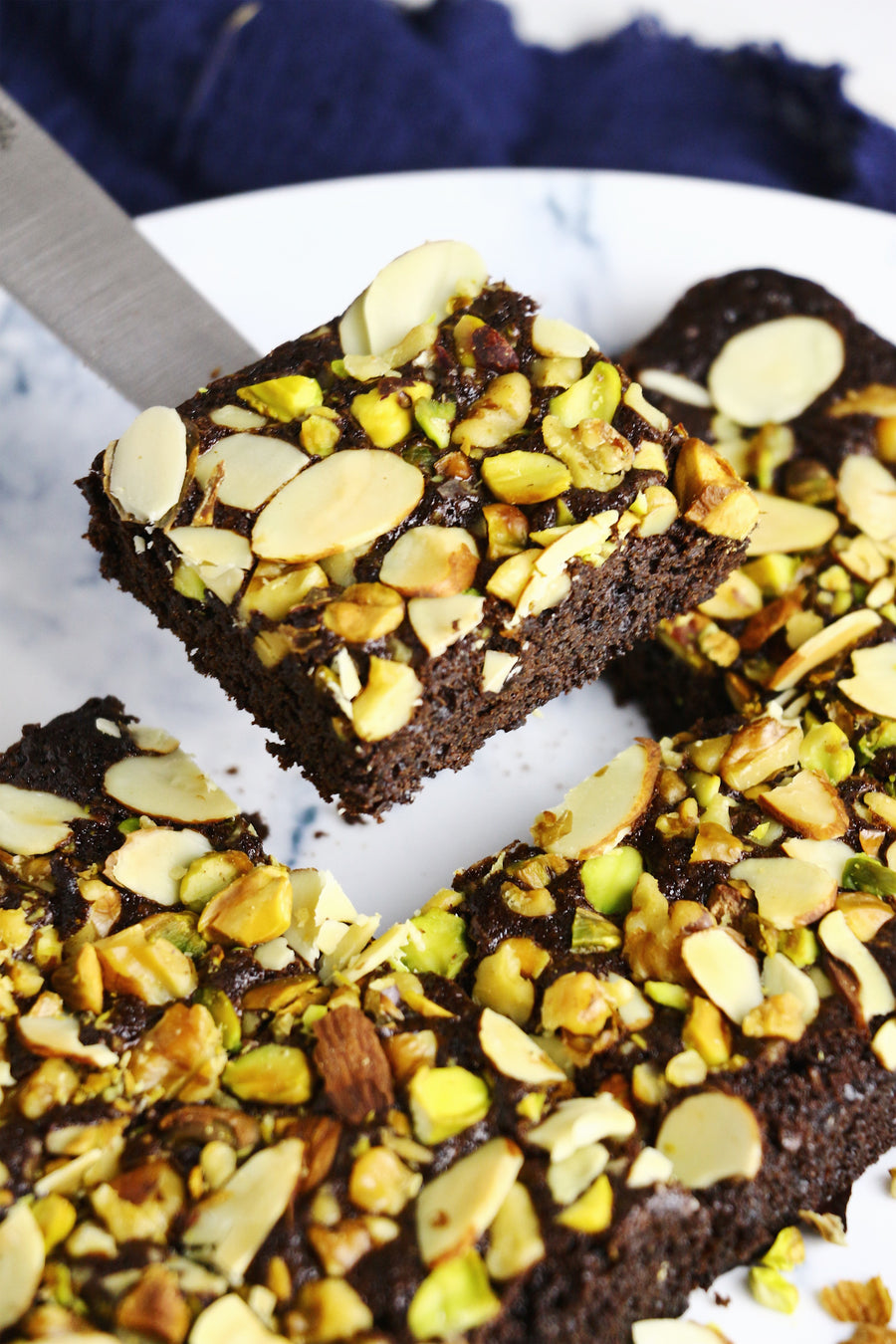 Absolutely Nuts! | Triple Nut Brownies (~16 slices)