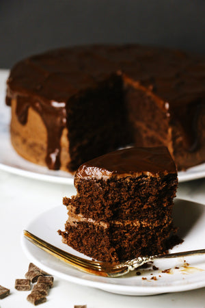 Drunk On Chocolate | Double Chocolate Fudge Cake