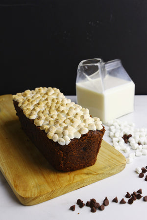 Hot Cocoa Loaf Cakes | Chocolate Loaves w/ Mini Marshmallows (makes 2x loaves)