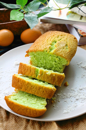Coco Pandan Rangers | Pandan Desiccated Coconut Loaf Cakes (makes 2x loaves)
