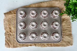 12-Cup Nonstick Canele Pan in Rose Gold