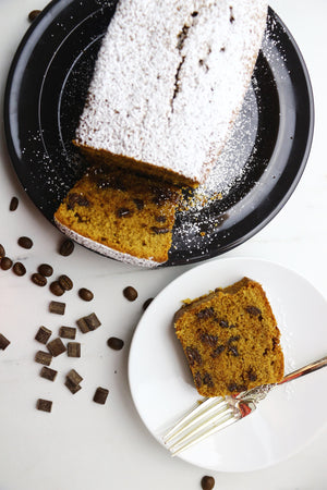 Mocha Delight | Coffee Dark Chocolate Chunk Loaf Cakes (makes 2x loaves)
