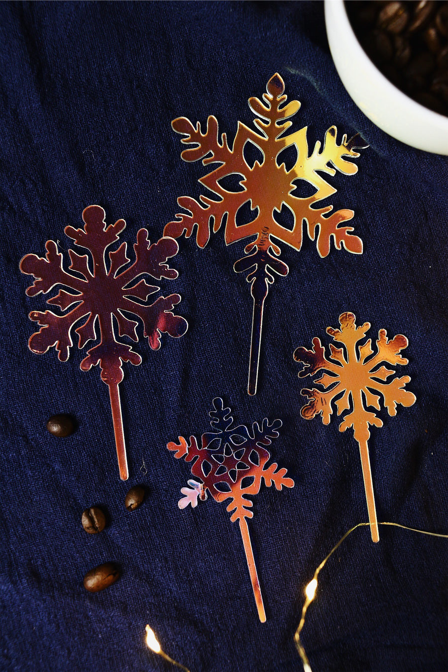 Snowflakes Galore! Cake Toppers (Set of 4)