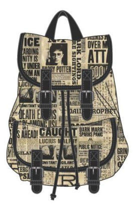 Harry Potter Newspaper Print Backpack - Cheap Online Store - 1