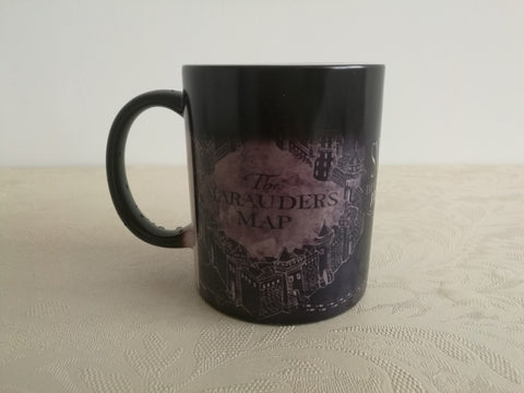 NEW Harry Potter Marauders Map Black Edition Coffee Morphing Mug Heat Changing Mug! - Cheap Online Store - 1