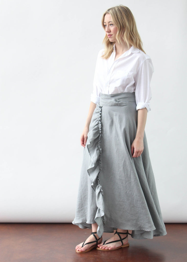 ELIZABETH April Skirt in Grey | Tula's Online Boutique