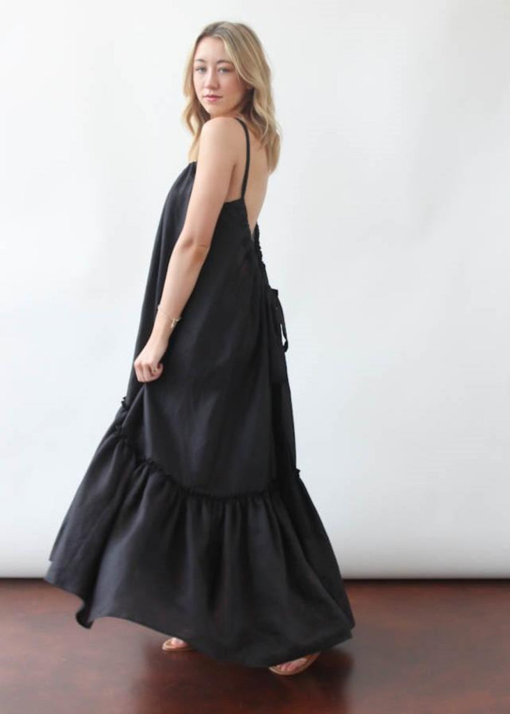 ELIZABETH Ellie Dress in Blck | Tula's Online Boutique