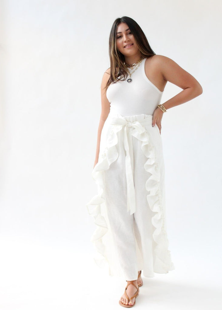 ELIZABETH June Pant in White | Tula's Online Boutique