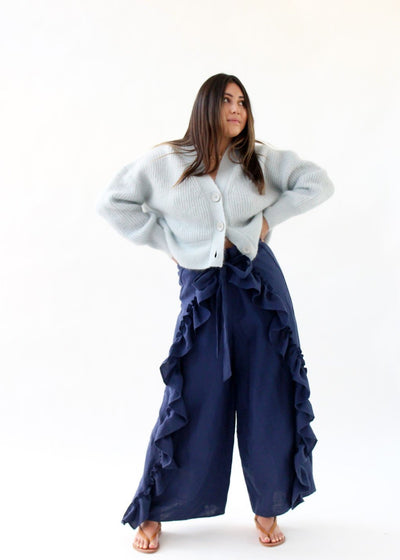 ELIZABETH June Pant in Navy | Tula's Online Boutique