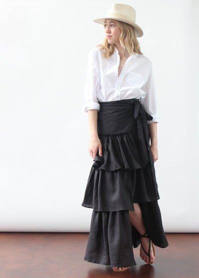 ELIZABETH Carrie Skirt in Blk | Tula's Online Boutique