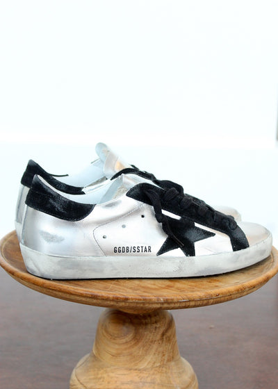 Golden Goose Super-Star Laminated Suede Sneakers | Tula's Online Boutique