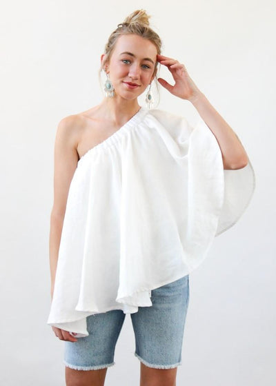 ELIZABETH Lydia Top in White | Tulas Online Boutique