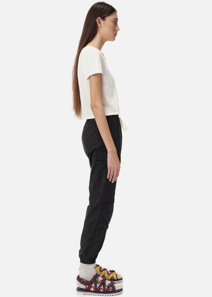 John Elliott Cotton Jersey Cropped Tee | Tula's Online Boutique