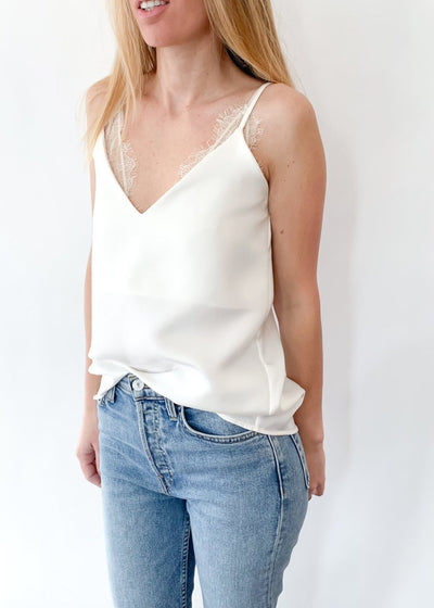 ELIZABETH Silk Camisole in White