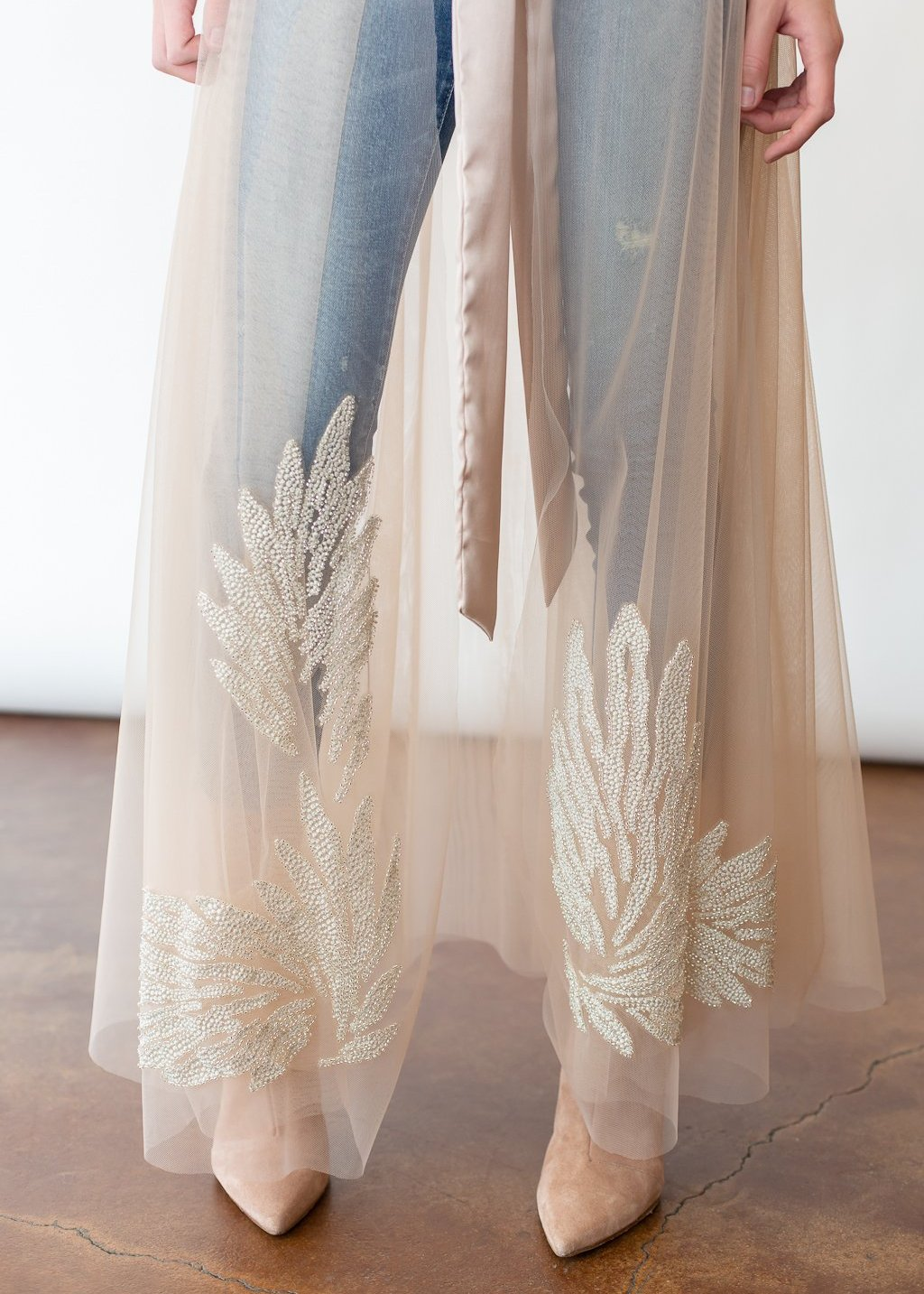 ELIZABETH Tulle Embroidered Wrap Skirt - Shop Tula
