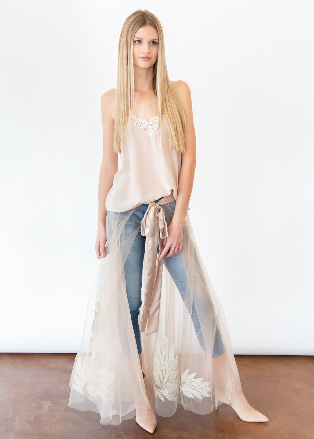 <h1>ELIZABETH Tulle Embroidered Wrap Skirt</h1>
