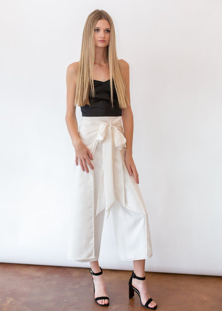 ELIZABETH White Wrap Pant - Shop Tula