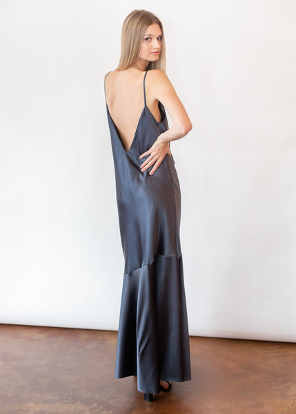 ELIZABETH Grey Maxi Dress - Shop Tula