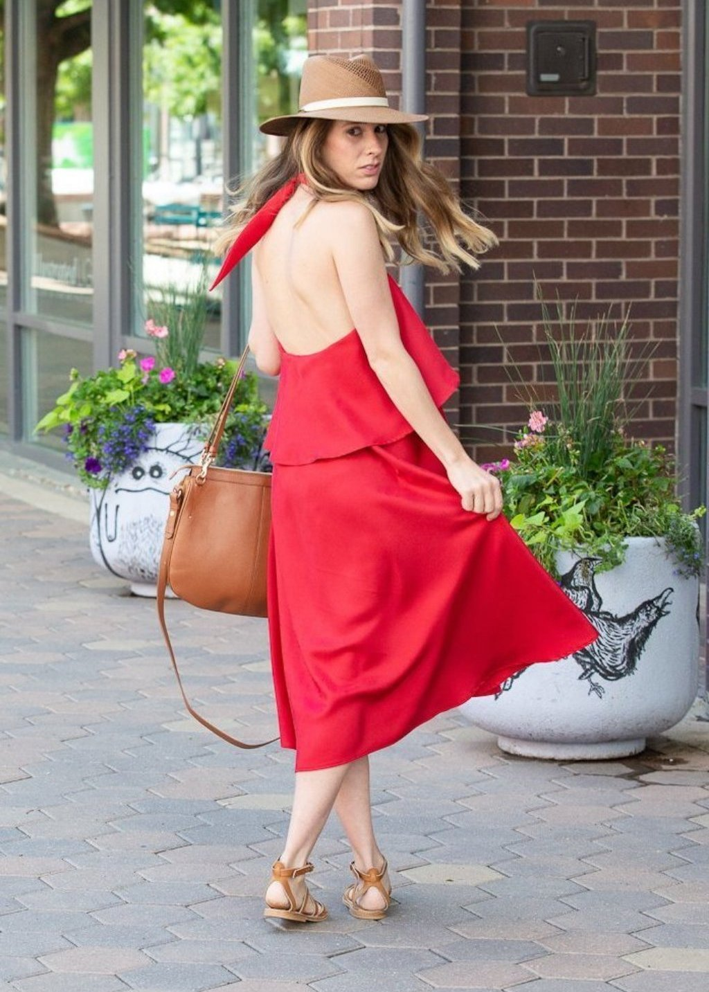 ELIZABETH Silk Ruby Dress - Tula Boutique