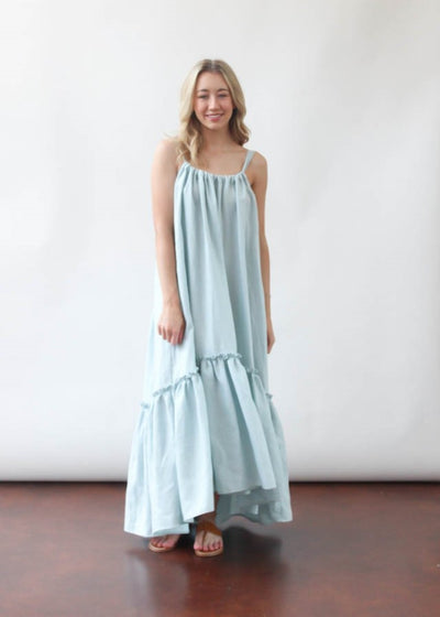 ELIZABETH Ellie Dress in Blue | Tula's Online Boutique