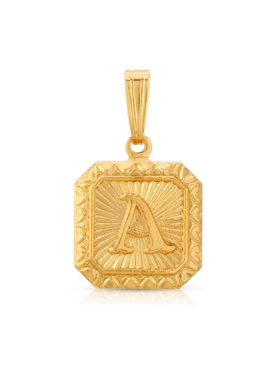 Miranda Frye Alpha Gold Charm | Tula's Online Boutique