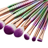 Mermaid Make-Up Brush Set (7 pcs)