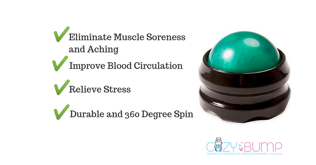 Massage Ball Roller For Back Massage - Handheld Massage Tool - Sore Muscle Relief - Cozy Bump