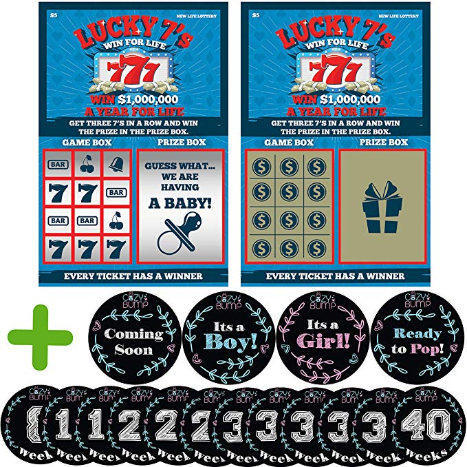 6 Pack Pregnancy Announcement Scratch-Off Tickets