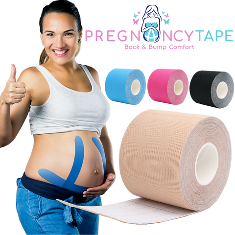 Pregnancy Tape - Relieve Back Pain - Kinesiology Tape For Belly Support - Cozy Bump