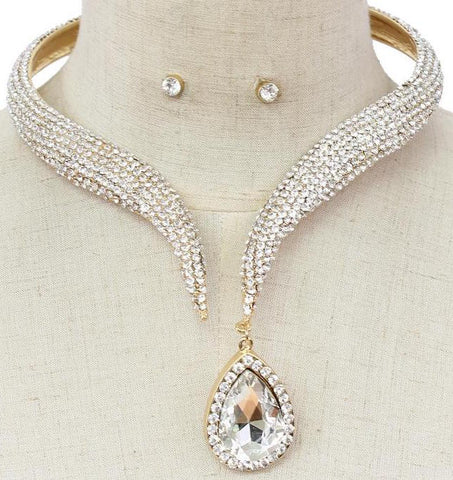 Glamorous Evening Statement Necklace Set