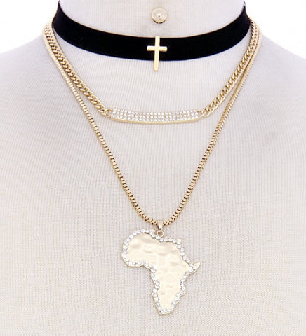 African Pendant Necklace set