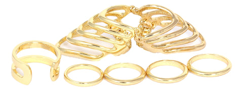 Multiple Trendy Rings Set