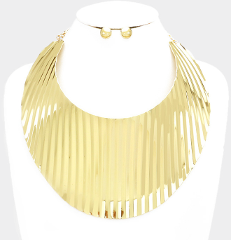 Gold Metal Statement Necklace