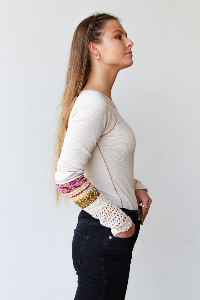 Have You Here Waffle Knit Top by Free People