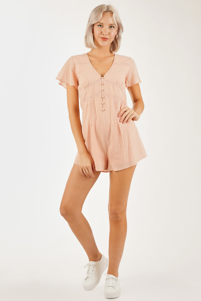 Lots of Love Button Romper