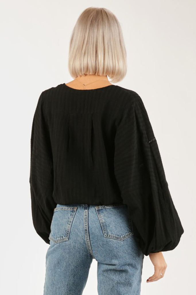 It Ain't Easy Surplice Peasant Blouse