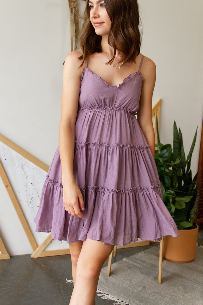 Close To Me Ruffle Cami Dress