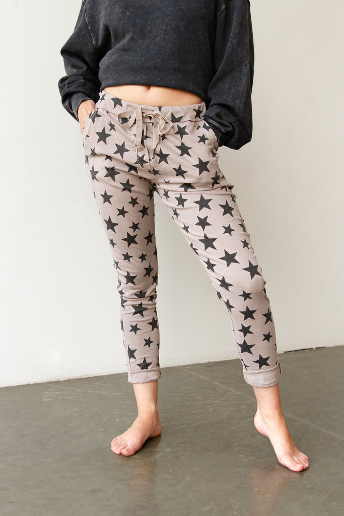 All Star Star Print Pants By For Good